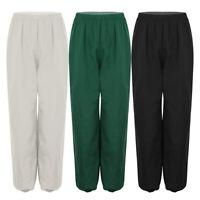 Women's Pants Casual Loose Daily Wear Elastic Dancewear Hiking Solid Trousers