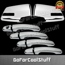 For GMC ACADIA 2010 2011 12 13 14 2015 Chrome Mirror And 4 Doors Handles Covers