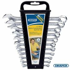 DRAPER METRIC COMBINATION SPANNERS SET 11 PIECES DIY FROM 6-14-17 & 19mm  - NEW