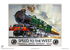 CORNWALL DEVON  RAILWAY POSTER HOLIDAY RETRO VINTAGE TRAVEL ADVERTISING ART