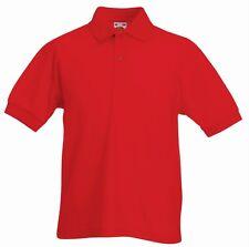 Magliette e maglie rosso in poliestere per bambini dai 2 ai 16 anni