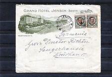 Italien schöner illustrierter Briefumschlag Grand Hotel Jensch (Riviera) - b0181