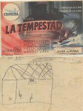 Programa PUBLICITARIO de CINE: La Tempestad. Director: Javier de Rivera.