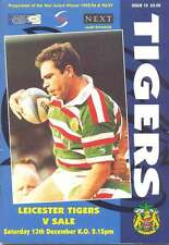 LEICESTER v SALE 13 Dec 1997 RUGBY PROGRAMME SIGNED by DAVID REES & LEWIS MOODY
