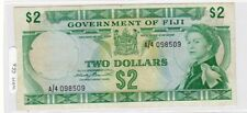 FIJI FIDJI Billet 2 DOLLARs 1971 P66a ELIZABETH 2 XF/AU