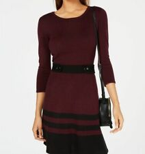 NEW Mossimo Red Burgundy Maxi Sweater Dress Size Medium M Elbow Sleeve
