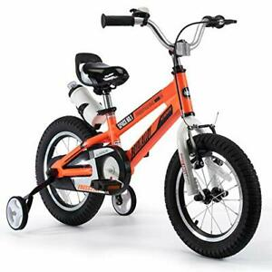 RoyalBaby Kids Bike Boys Girls 12 Inch Space No.1 Aluminum Bicycles with Trai...