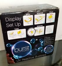Burst Party UV Bubbles (36 Pack) Black Light Party Bubbles  Non-Toxic Glow NIB.