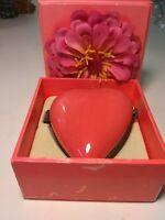 """Hallmark Signature Heart """"Pocket Locket"""" Photo Frame, Coral-Pink, Porcelain"""