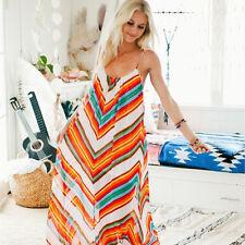 Women Boho Long Maxi Evening Party Cocktail Beach Dresses Sundress AU Size 8-18