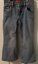 Girl's,Levis Flare 517 Jeans,Denim Factory Faded Distressed Stretch Waist Size 5