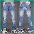 MENS BLUE JEANS PANTS CASUAL DENIM PANTS slim fit straight TROUSERS MEN 30 31 S