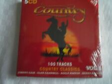 CD  COUNTRY   COFFRET DE 5 CD  100 TITRES