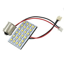 1x 1156 1141 BA15S Adapter +DC 12V LED Panel  Dome Light Bulb 24-3528 SMD White