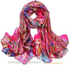 XXXL 100% echt silk Reine Seide Seidentuch Schals scarf Damen 180cmX110cm 004