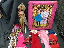 Barbie 1968 Taiwan +World Of Doll Case Jewelry Dress Outfits Christmas Snakeskin