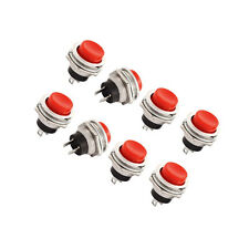 10pcs DS-212 16mm 3A 125V Switch Push Round Button No Lock Reset Red CA