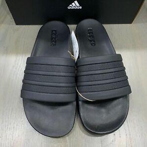 Adidas Adilette Cloudfoam+ Mono Black Slides Athletic Sandal S82137 Mens Size 12