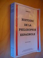 Alain Guy Histoire de la philosophie espagnole 1985 Envoi de l'auteur