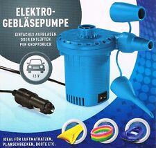 Elektrische Gebläsepumpe für 12 V Zigarettenanzünder inkl. 3 Ventiladapter