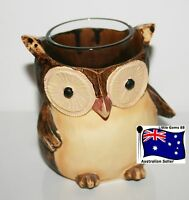 YANKEE CANDLE Votive or Tealight HOLDER ~ OWL ~ GIVE A HOOT!!