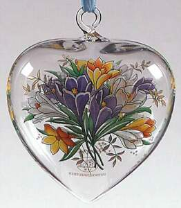Replacements Hutschenreuther Ornaments 2001 Crystal Spring Heart 2397283