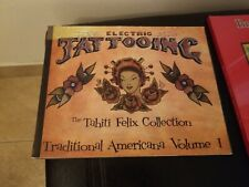 Traditional Tattoo Book Lot vintage style rare flash stencils colorful READ COND