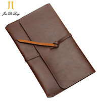 Retro Mens Handbag Business Document Holder Leather Envelope Ipad Protection Bag