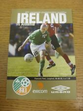06/06/2003 Republic Of Ireland U21 v Albania U21 [At Longford Town] (4 Pages). T