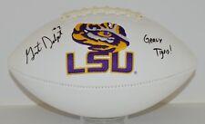 Grant Delpit signed Louisiana State University Logo Football auto Lsu Ncaa Sec