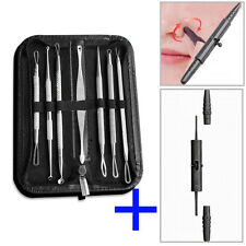 8pcs Blackhead Acne Comedone Pimple Blemish Extractor Remover Stainless Tool Kit