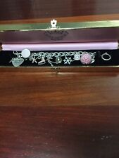 Juicy Couture Charm Bracelet Ice Skating/Winter Theme