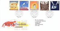 2 MAY 1995 PEACE AND FREEDOM ROYAL MAIL FIRST DAY COVER LONDON SW SHS