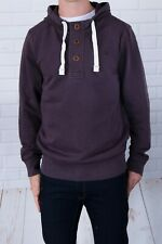 New Fat Face Men's Purple Half Button Vintage Washed Hoody XS- XXL RRP £49.95