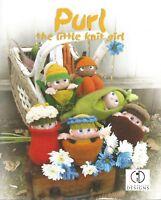 Purl The Little Knit Girl Knitting Instruction Pattern Book Skacel Cid Hanscom