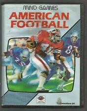 AMERICAN FOOTBALL - Mind Games - COMMODORE 64 C64 CASSETTE GAME