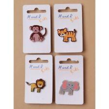 Pack of 4 Plastic Animal Design Pin Badges Party Bag Fillers Badges Brooch