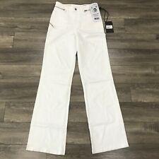 New Diesel D-Pending Flare High Waist Denim Jeans Womens W28 X L32 White 069EA