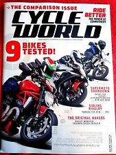 CYCLE WORLD MAGAZINE JULY 2016 BIKES TESTED DUCATI MONSTER YAMAHA HUSOVARNA