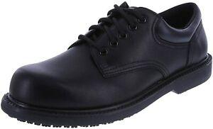 safeTstep Slip Resistant Men's Manager Oxford, Black, 10.5