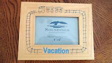"Soundings Vacation Wood Photo Frame 4"" X 6"" NIB"