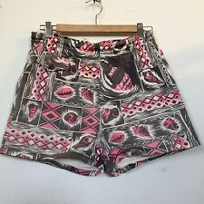 Vtg 1950's Ross Sutherland Hawaiian Swim  Shorts Pink Black Rockabilly No Shirt
