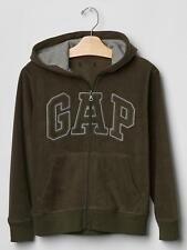 NWT Gap Kids Boys Size Small 6 7 Khaki Fleece Arch Logo Zip Up Hoodie Sweatshirt