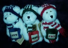 "Boyds Bears-Lot Of 3-""Hope-Love-Joy"" Ornaments-5.5""H"