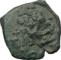 CONSTANS II Pagonatos 641AD Follis Syracuse Sicily Ancient Byzantine Coin i59320
