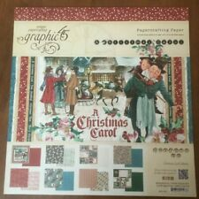 Graphic 45 12 x 12 A Christmas Carol Paper Pad (1 Missing Sheet) DBL Sided