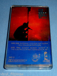 PHILIPPINES U2 - Under A Blood Red Sky,TAPE,Cassette,RARE,Bono,The Edge,Tinted