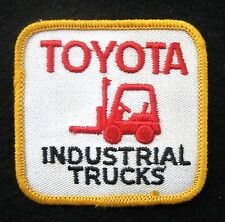 "TOYOTA SEW ON PATCH INDUSTRIAL TRUCKS LIFT FORKLIFT ADVERTISING 2 7/8"" x 2 1/2"""