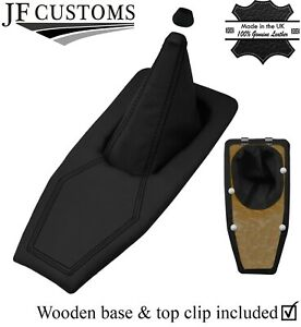 BLACK STITCH REAL LEATHER SHIFT BOOT + BASE FRAME KIT FOR TRIUMPH TR7 TR8 76-82