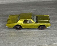 HOT WHEELS Vintage REDLINE 1968 Custom Continental Mark III Yellow B